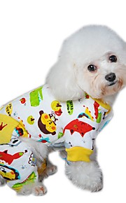 Lovely Warm Winter Cartoon Pattern Cotton Fleece Coat with Back Pocket   for Pets Dogs (Assorted Sizes and Colours)