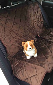 Non Slip Pet Car Seat Cover Waterproof And Washable Quilted Soft Short Plush Dog Rear Seat Cover