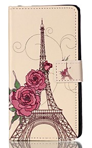 Wallet / Flip Eiffel Tower PU Leather Hard Case Cover For Sony Sony Xperia X Performance / Sony Xperia M4 Aqua