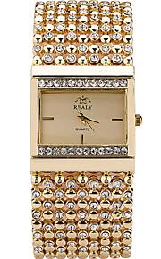 Mulheres Relógio de Moda / Relógio de Pulso Quartz / Aço Inoxidável Banda Casual / Legal Prata / Dourada marca