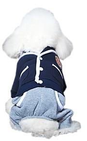 Gatos / Perros Disfraces / Abrigos / Mono / Pantalones Rojo / Azul / Gris Ropa para Perro Invierno / Primavera/Otoño BloquesVacaciones /