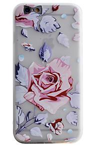 Coque Transparents / Motif Fleur TPU Doux Couverture de cas pour Apple iPhone 6s Plus/6 Plus / iPhone 6s/6 / iPhone SE/5s/5