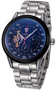 Masculino Relógio de Pulso / relógio mecânico Automático - da corda automáticamente Cronógrafo / Impermeável Aço Inoxidável Banda Legal