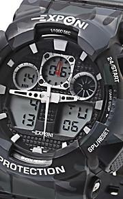 Masculino Relógio Esportivo / Relógio Militar / Relógio de Moda / Relógio de Pulso QuartzLED / LCD / Calendário / Cronógrafo /