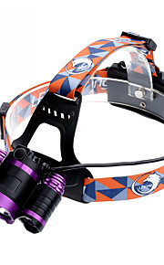 U`King® Lanternas de Cabeça / Faixa Para Lanterna de Cabeça LED 9000LM Lumens 4.0 Modo Cree XM-L T6 18650.0Regulável / Foco Ajustável /
