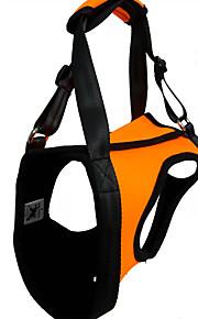 犬用品 ハーネス 防水 / 反射 / 調整可能/引き込み式 純色 レッド / グリーン / オレンジ ラバー