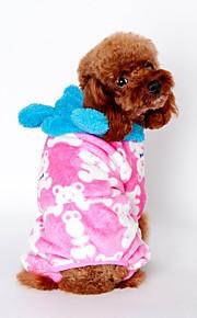 Gatos / Cães Fantasias / Casacos / Camisola com Capuz / Macacão / Calças Preto / Rosa / Café Roupas para Cães Inverno / Primavera/Outono
