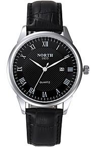 Herren Armbanduhr digital / Japanischer Quartz Kalender / Wasserdicht Leder Band Bettelarmband Schwarz Marke