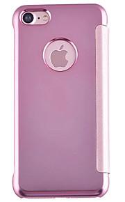 Hel kropp Spegel / Flip Solid Färg PC Hård Fallet täcker för AppleiPhone 7 Plus / iPhone 7 / iPhone 6s Plus/6 Plus / iPhone 6s/6 / iPhone