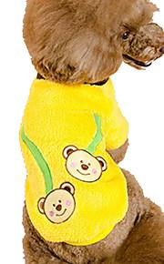 Perros Sudadera Amarillo Ropa para Perro Primavera/Otoño Animal Adorable / Vacaciones / Casual/Diario /