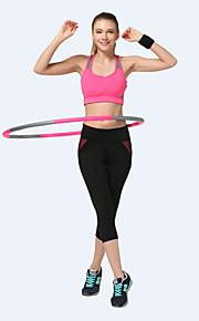 Yoga-Hose Unten Atmungsaktiv / Videokompression Normal Dehnbar Sportbekleidung Schwarz Damen Sport® Yoga / Pilates