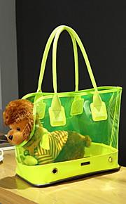 Gato / Dog Transportines y Mochilas de Viaje / Mini Mensajero Mascotas Portadores Portátil Goma Blanco / Amarillo / Rosa
