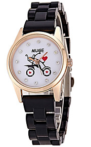 Mulheres Relógio de Moda / Relógio de Pulso Quartz / Cerâmica Banda Legal / Casual Preta / Branco marca