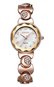 Mulheres Relógio de Moda Quartz / Quartzo Japonês Impermeável Lega Banda Casual Prata / Ouro Rose marca