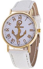 Mulheres Relógio de Moda / Relógio de Pulso Quartz / Couro Banda Legal / Casual Preta / Branco / Verde / Rosa marca