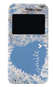 modello di amore finestratura caso PU telefono cellulare a conchiglia con finestra per iPhone 7 7 più