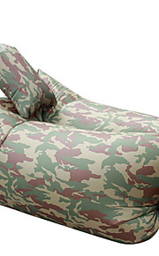 sofá inflable perezoso ultraligero con silla de playa almohada para actividades de ocio de camuflaje