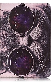 Ganzkörper Brieftasche / Kartenhalter Katze PU - Leder Hart Fall-Abdeckung für Apple iPad Mini 4 / iPad Mini 3/2/1