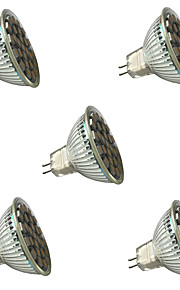 3W GU5.3 (MR16) LED-spotlampen MR16 27 SMD 5050 300 lm Warm wit / Koel wit Dimbaar / Decoratief V 5 stuks