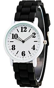 Mulheres Relógio de Moda / Relógio de Pulso Quartz / Silicone Banda Legal / Casual Preta / Branco / Azul / Verde / Rose marca