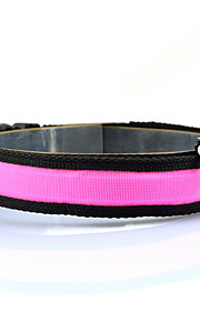Dog Collar Strobe/Flashing Solid Red / White / Green / Blue / Pink / Yellow / Orange Nylon