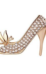 hot salg lysende krystal sommerfugl højhælede sko broche for kvinder