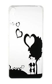 Para Funda Sony Transparente / Diseños Funda Cubierta Trasera Funda Corazón Suave TPU Sony Sony Xperia X / Sony Xperia XA / Sony Xperia E5