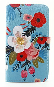 Flower Pattern PU Leather Full Body Case with Stand and Card Slot for Wiko Lenny 2 Lenny 3 Sunset 2