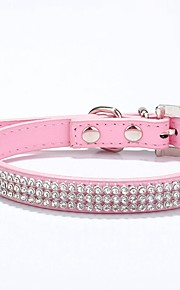 Stylish  Black/Pink/Blue/Red/Rose Hydraulic Drill Pets Collar for Pets Dogs
