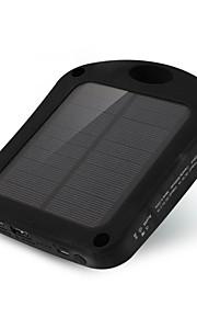 6000mAhmAhבנק כוח סוללה חיצונית מטען סולרי / פנס 6000mAh 1000mA מטען סולרי / פנס