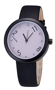 Unissex Relógio de Moda Quartz / Digital Colorido Couro Banda Casual Preta marca