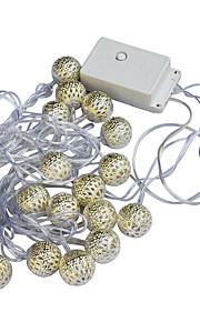 Jiawen 20 geleide 5m warm witte kerst vakantie decoratie snaar licht (AC 110-220V)