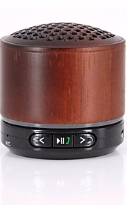 RICHSO Lens wood Multimedia Mini HIFI Bluetooth Speaker with Stereo FM AUX Wireless Super Bass Built in Mic / USB