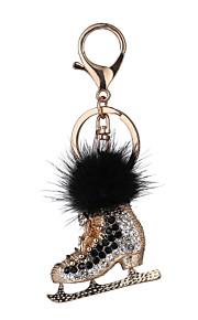 o novo novo saco geral sul-coreano de cristal chave do carro de sapatos de liga de zinco bola de cabelo de diamantes fivela pequena