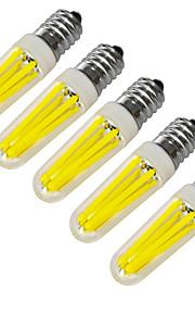 4W E14 LED-lysestakepærer 4 COB 320-400 lm Varm hvit / Kjølig hvit Dekorativ V 5 stk.