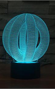sirkel ballen berørings dimming 3D LED nattlys 7colorful dekorasjon atmosfære lampe nyhet belysning jul lys