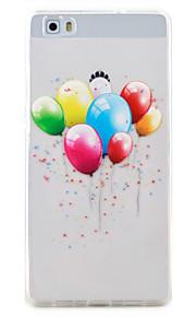 Para Transparente / Diseños Funda Cubierta Trasera Funda Globo Suave TPU Huawei Huawei P9 Lite / Huawei P8 Lite