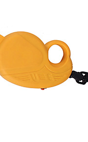 Dog Leash Adjustable/Retractable Solid Yellow Plastic