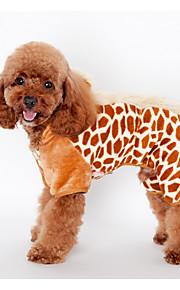 Psy Bluzy z kapturem Black / Brązowy / Różowy Ubrania dla psów Zima / Wiosna/jesień Wzór zwierzęcy Cosplay / Zatrzymujący ciepło /