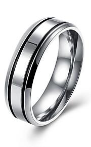 Ringe Daglig Afslappet Smykker Rustfrit Stål Titanium Stål Herre Ring 1 Stk.,7 8 9 10 Sølv