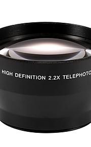 67mm 2.2x tele tele linse til Canon EOS 550D 600d 650D 700D 60D 70d 18-135 mm objektiv nikon 18-105mm objektiv