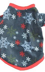 Gatos / Cães Casacos / Camiseta / Colete Amarelo / Azul Roupas para Cães Inverno / Verão / Primavera/Outono Floco de NeveFofo / Esportivo