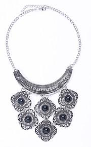 Halskæder Turkis / Obsidian Smykker Halloween / Bryllup / Party / Daglig / Afslappet Mode / Euramerican Legering / Turkis Sølv 1pc Gave