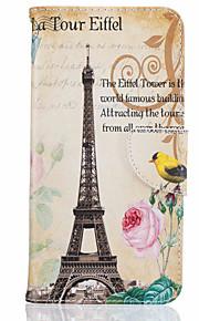 Para Capinha iPhone 7 / Capinha iPhone 6 / Capinha iPhone 5 Porta-Cartão / Flip / Estampada Capinha Corpo Inteiro Capinha Torre Eiffel