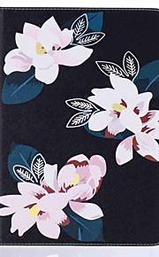 Für Kreditkartenfächer / mit Halterung / Flipbare Hülle / Muster Hülle Handyhülle für das ganze Handy Hülle Blume Hart PU - Leder Apple