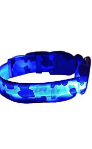 Cani Collari Luci a LED / Stroboscopico Mimetico / Leopardo Rosso / Bianco / Verde / Blu / Rosa / Giallo / Arancione Nylon