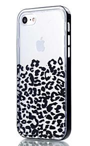 Para Capinha iPhone 7 / Capinha iPhone 6 / Capinha iPhone 5 Transparente / Estampada Capinha Capa Traseira Capinha Estampa de Leopardo