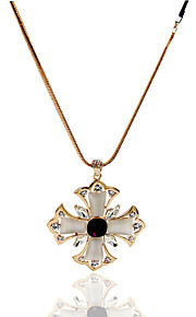Necklace Imitation Opal Jewelry Wedding / Party / Daily / Casual Flower Style Alloy Gold 1pc Gift