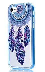 For iPhone 7 etui / iPhone 6 etui / iPhone 5 etui Transparent / Mønster Etui Bagcover Etui Drømmefanger Blødt TPU AppleiPhone 7 Plus /