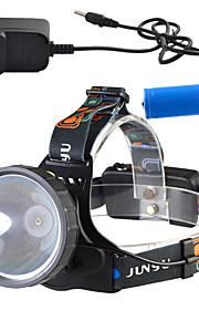 Освещение Налобные фонари LED Other Люмен 3 Режим - 18650 Диммируемая / Перезаряжаемый / Высокомощный / Очень легкие